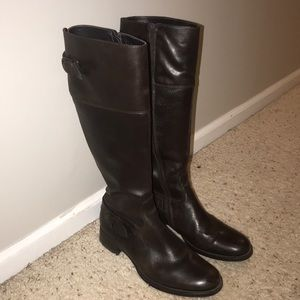 Dark Brown Tall Riding Boots
